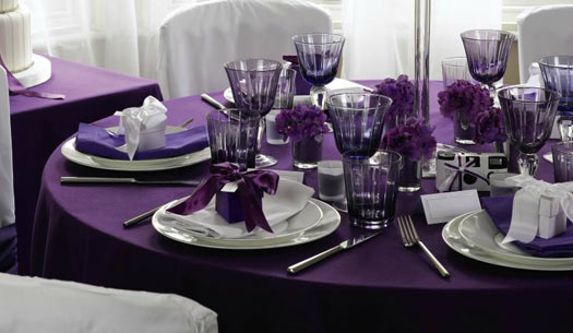 Purple Textured Table Cloth
